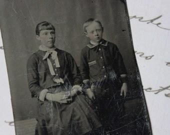 Tintype - 1860s Children Photography  - Civil War Era Daguerrotype