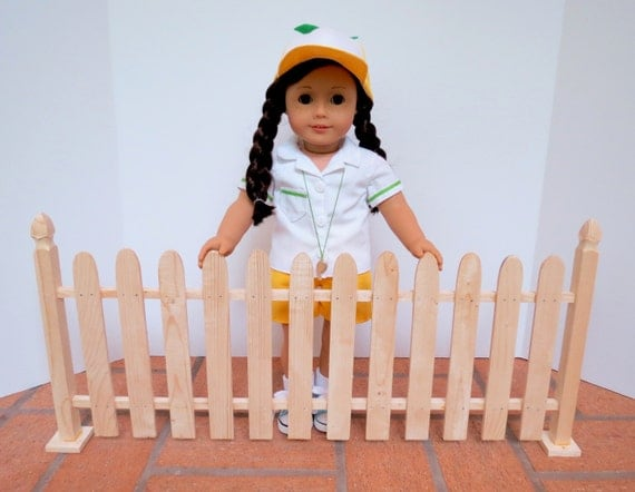 Doll garden fence for american girl 18 inch by for Garden tools for 18 inch doll