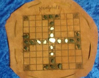 Portable Leather Hnefatafl game