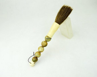 Carved craft jade pen home interior wall decorating brush housewarming gift for designer