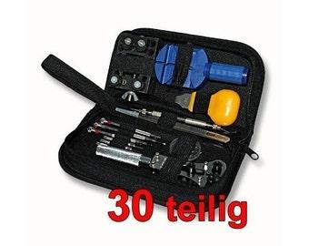 Professional 30pc watch repair tool kit in nylon bag [1485]