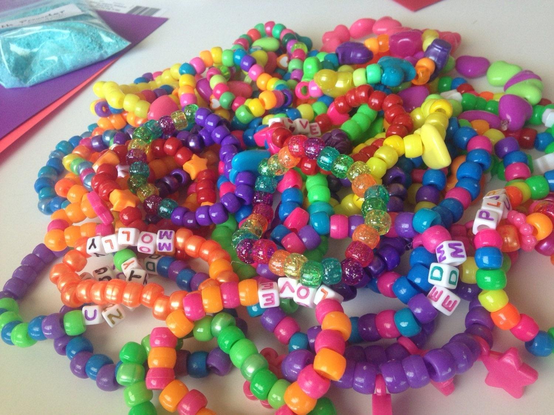 kandi bracelets set of 5 bracelets by thequirkyroom