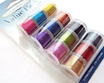 1mm Aluminum Wire, 12 Pack, Mixed Color Wire, 18 Gauge Wire, Craft Wire Spools, Jewelry Wire, Wire Wrapping, Sculpting Wire, UK Seller