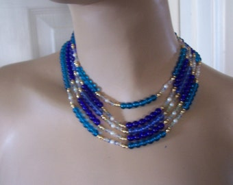 One Only *  Beautiful Authentic Vintage Five Strand Italian Necklace