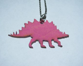 Stegosaurus- Laser Cut Necklace