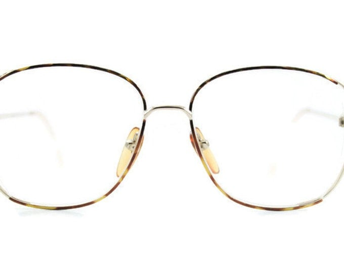 Vintage 80s Glasses | Guy Laroche Gold & Tortoiseshell Round Eyeglass Frame | 1980s NOS Eyeglasses - Misti XX