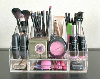 Arya Acrylic Makeup Organizer Storage Modular Tray