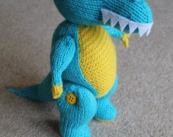 Dinosaur toy. Tyrannosaurus Rex. Soft and cuddly  a great present for any dinosaur fan.