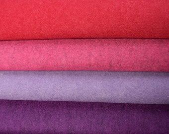 Wool felt 4 pieces (each 50 x 75 cm) approx. 1.5 mm - pink - purple