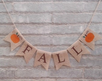 FALL Burlap banner - Fall banner, fall decor, Thanksgiving banner, Thanksgiving decor, Fall sign, Autumn banner, Holiday banner