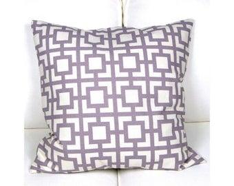 Pillowcase GIGI graphic pattern lilac vanilla 50 x 50 cm