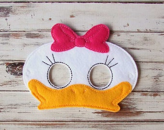 Duck Mask, Felt, Animal Mask, Pretend Play, Dress Up, Halloween, Costume