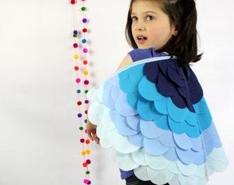 Blue Bird Wings Costume Halloween Childrens Dressup kids