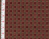 Paprika Plaid Upholstery Weight Fabric Acrylic, Polyester, Cotton 16x16  - by the Piece
