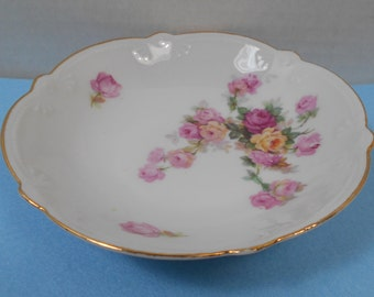 Pink Rose Bowl Trinket Dish
