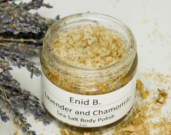2 oz. Chamomile and Lavender Sea Salt Body Polish-Scrub