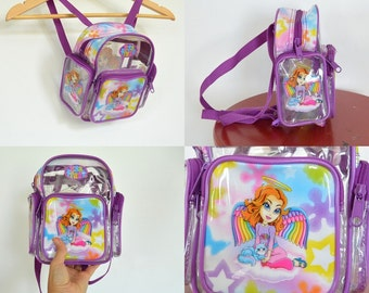 Vintage Lisa Frank Angel Girl Mini Backpack Collector's Item 1990's
