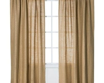 Natural Burlap Curtain
