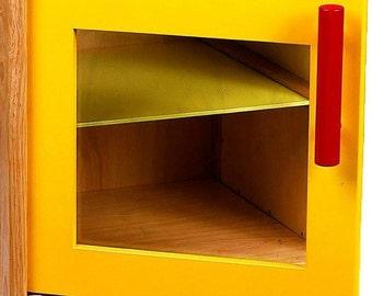 Wooden door for play kitchen, stove