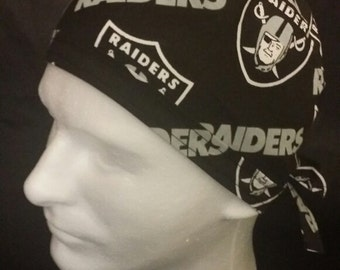 Oakland Raiders Football NFL California Tie Back Surgical Scrub Hat