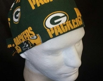Green Bay Packers NFL Football Tie Back Surgical Scrub Hat