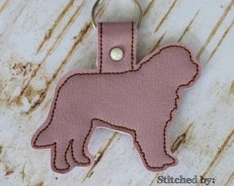 ST BERNARD Outline - Dog - In The Hoop - Snap/Rivet Key Fob - DIGITAL Embroidery Design
