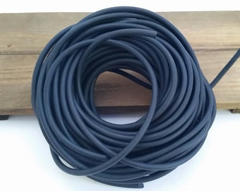 Uncoated Black Rubber Cord, 4 mm, Diy Jewelry, Latex Free, Rubber Cord for Jewelry Making