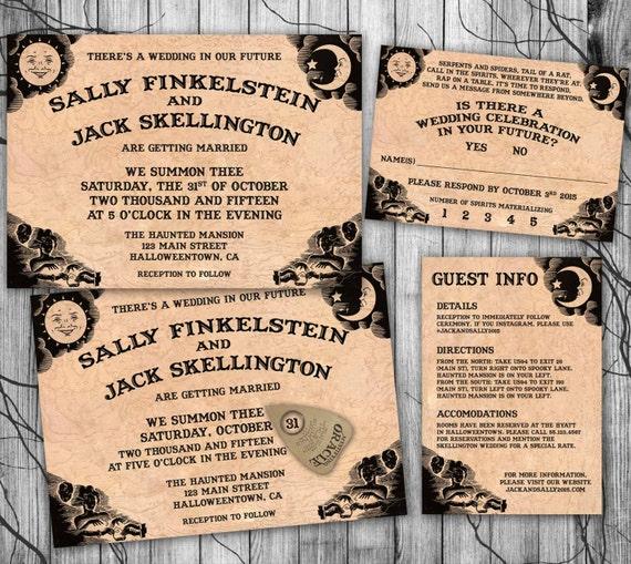 Halloween Wedding Invitation Suite Ouija Board Invite DIY