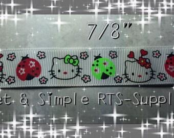 """7/8"""" Hello Kitty Ribbon"""