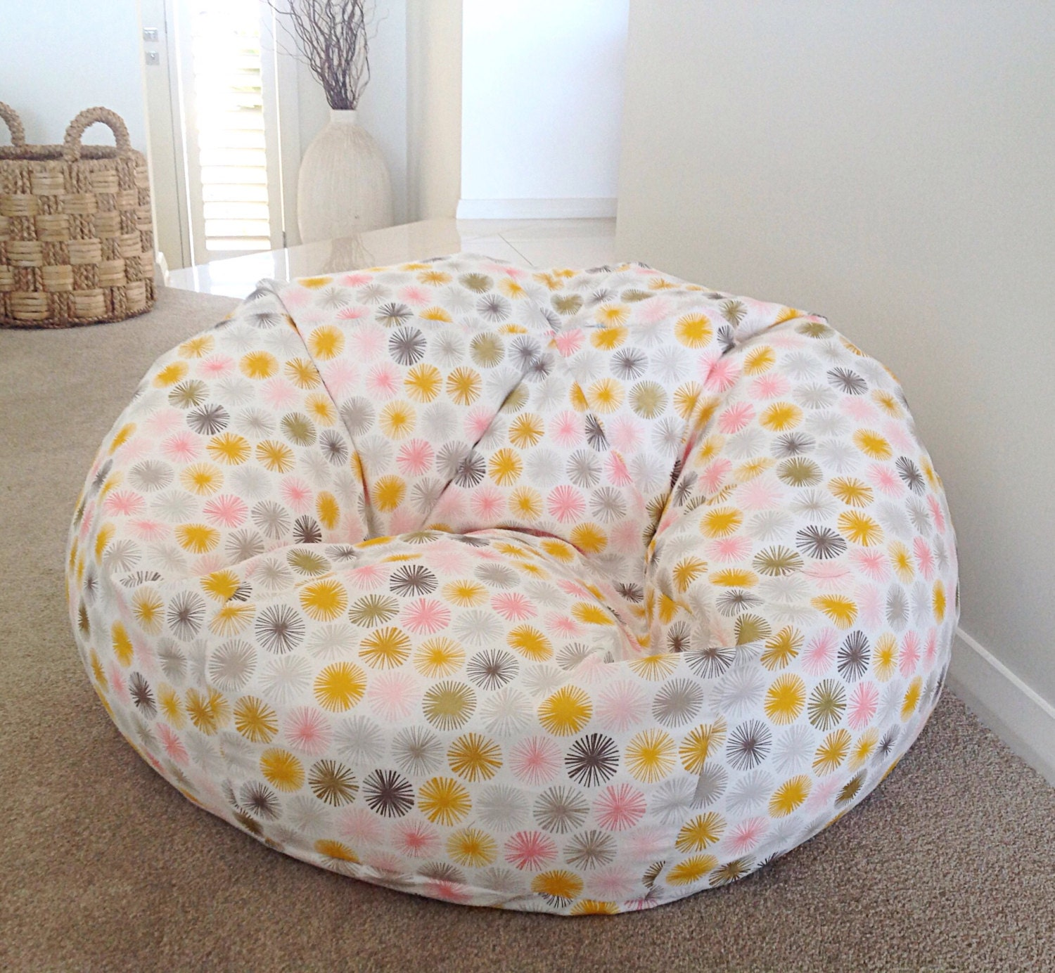 Bean bag chairs for teenage girls - Bean Bag Kids Snowflakes Organic Cotton Bean Bag Cover And Liner Bag Metalic Gold Girls Bean