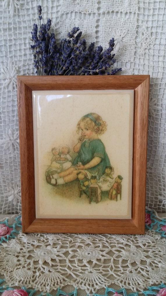 Vintage Wall Decor For Nursery : Tile wall decor childs nursery vintage kimberly enterprises