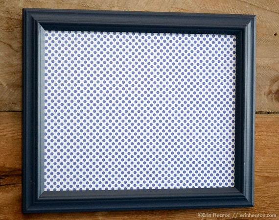 navy blue 8x10 upcycled wood picture frame. Black Bedroom Furniture Sets. Home Design Ideas