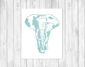Elephant print, kids room, Nursery art, Digital download, Printab;e, Home decor, Safari art print - strong elephant