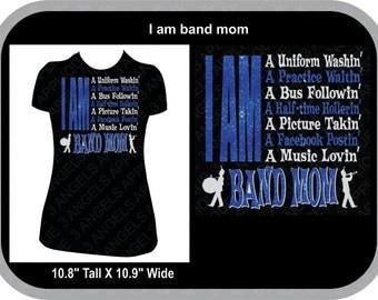 I Am A Band Mom  SVG Cutter Design INSTANT DOWNLOAD