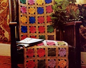DIY Chair Afghan Vintage PDF Crochet Pattern