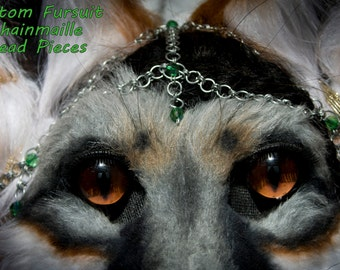 Custom Chainmaills Head Piece for Fursuit Heads