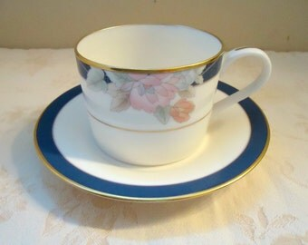 Gorham Mae Bloom Cup and Saucer Gold Trim 1980's