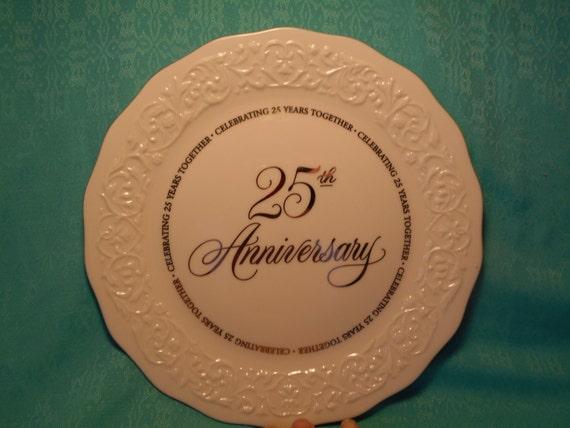 Hallmark Wedding Anniversary Gifts: 25th Anniversary Gift Plate Vintage Hallmark Silver