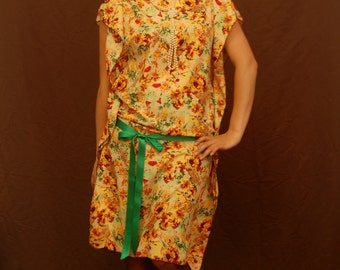 1920s Inspired Floral Flapper Dress (Small/Medium)