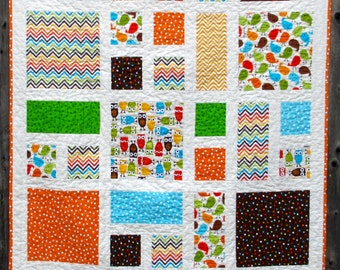 Modern Baby Quilt | Toddler Quilt | Zoo Quilt | Bright Colors Quilt
