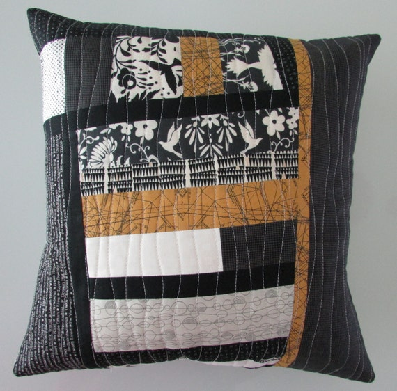 Modern Quilted Pillow Covers : Decorative Pillow Throw Pillow Modern Quilted Pillow