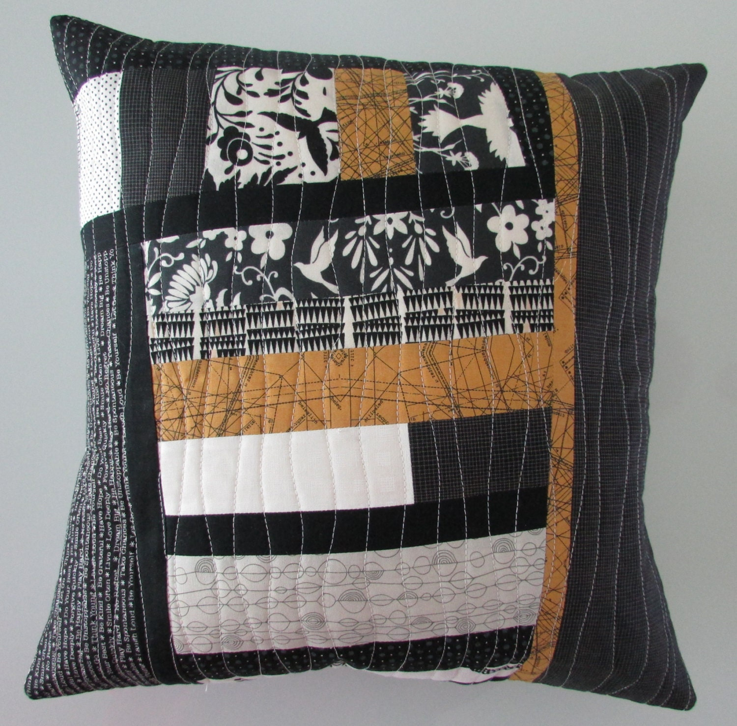 Decorative Pillow Throw Pillow Modern Quilted Pillow
