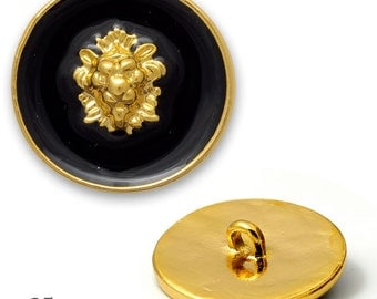 25mm, 16mm Lion Metal  Button, Blazer Buttons with Shank by each, T1923, T1995