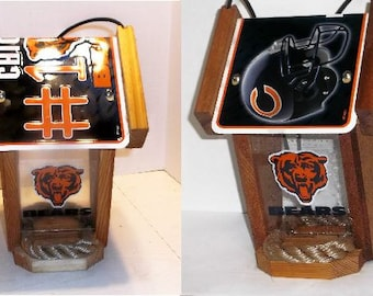 Chicago Bears Two-Sided Cedar Bird Feeder (Choose from two styles)
