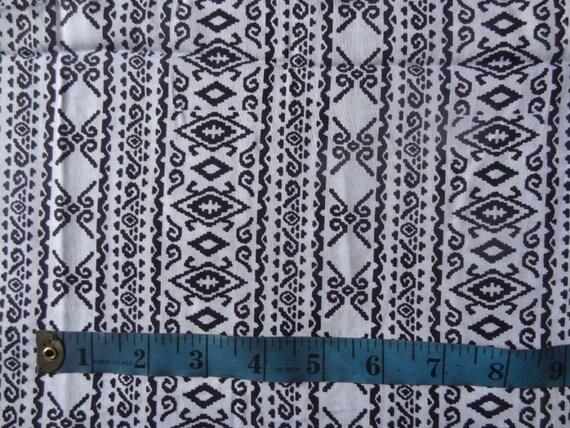 Black and white print rayon challis fabric black and for Black and white childrens fabric