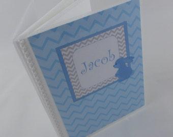 Boy photo Album, baby Album, Grandparents gift, Newborn baby boy, Blue Bunny grandmas brag book 341
