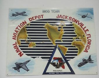 Naval Aviation Depot Metal Sign - Mod Team Sign