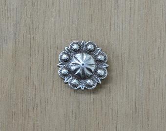 """Antique Silver Mini Western Berry Concho 3/4"""" 47546"""
