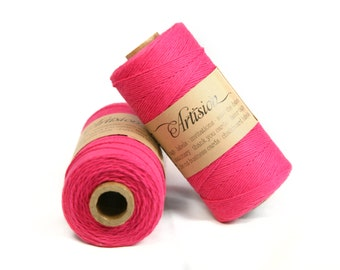 Hot Pink bakers twine 240 yards 4 ply made in USA