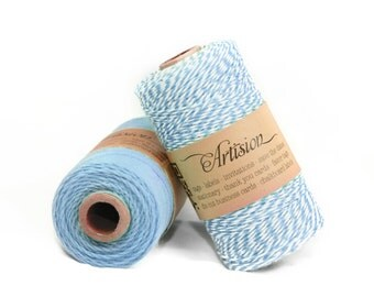 Light Blue Baker's Twine 240 yards 4 ply made in USA